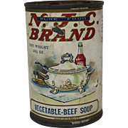 Vintage N.J.C. Brand Vegetable Soup Can