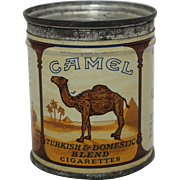 1940's Small 50 Count Key Wind Camel's Cigarette's Tin