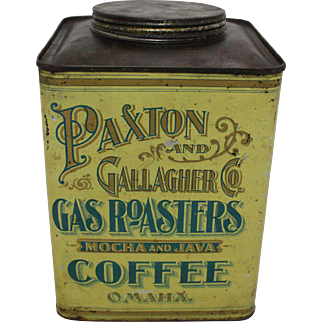 Vintage Paxton & Gallagher 2 lb. Coffee Tin