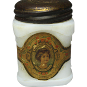 "Early ""Puritan Beauty Cream"" Milk Glass Jar"
