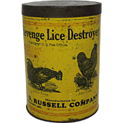 "Vintage ""Revenge"" Lice Destroyer 3 lb. Tin"