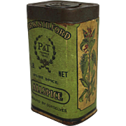 "Turn of Century ""Park & Tilford"" Spice Container"