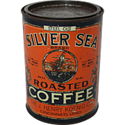 "Vintage ""Silver Sea"" Coffee Tin"