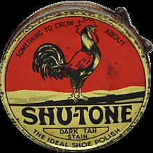"Vintage ""SHU-TONE"" Shoe Polish Can"