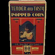 "Vintage H&H ""Gloria Jean"" Popcorn Box"