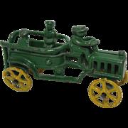 Rare 1920's Hubley Green Patrol Fire Truck