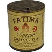 """Early 1920's 50 Count """"Fatima"""" Cigarette Tin"""