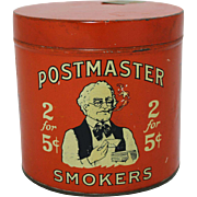 1920's Postmaster Smokers Tin
