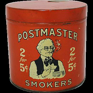 1920's Postmaster Smokers Tin