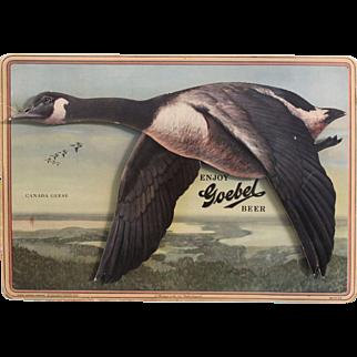 """1950's """"Goebel Beer"""" 3-Dimensional Cardboard Sign"""