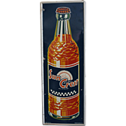 "Vintage ""Sun Crest"" Metal Soda Sign"