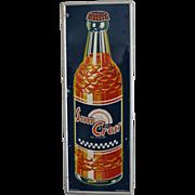 """Vintage """"Sun Crest"""" Metal Soda Sign"""
