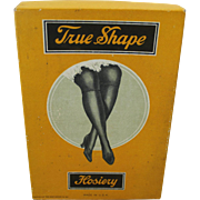 "1920's ""True Shape Hosiery"" Cardboard Box"