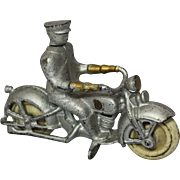 "1920's Kilgore 4 1/2"" Cast Iron Motorcycle"