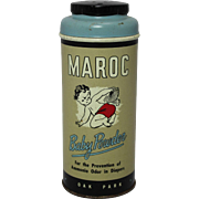 """Vintage """"Maroc"""" Baby Powder Can"""