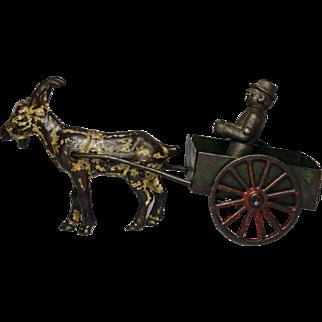 1910 Kenton Goat Cart with Original Driver