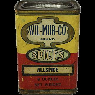 """Rare """"Wil-Mur-Co"""" Allspice Spice Container"""