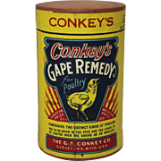 "Vintage ""Conkey's"" Gape Remedy Unopened Container"