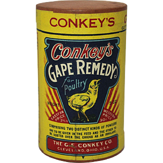"""Vintage """"Conkey's"""" Gape Remedy Unopened Container"""