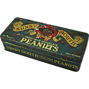 "Vintage ""Sunny South"" Peanuts Tin"