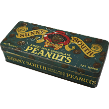 "Vintage ""Sunny South"" Peanuts Tin"