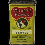 "Vintage ""Stuart's Handy"" Litho Spice Tin"