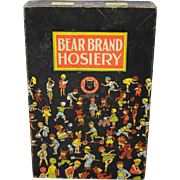 "1930's ""Bear Brand"" Hosiery Box"