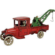 "1920's Arcade 11"" Model T Ford Wrecker with Weaver Boom"