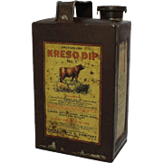 "Early ""Kreso Dip"" Half Gallon Tin"