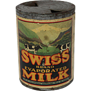 "Vintage ""Swiss Brand Evaporated Milk"" Tin"