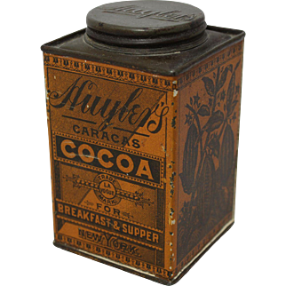 Early Huyler's Litho Cocoa Tin