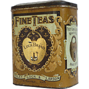 Lock Brand Fine Teas Embossed Litho Tin
