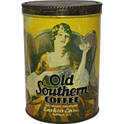 """1920's, 30's  """"Old Southern"""" Coffee Litho Tin"""