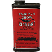1940's Stanley's Crow Repellent Tin