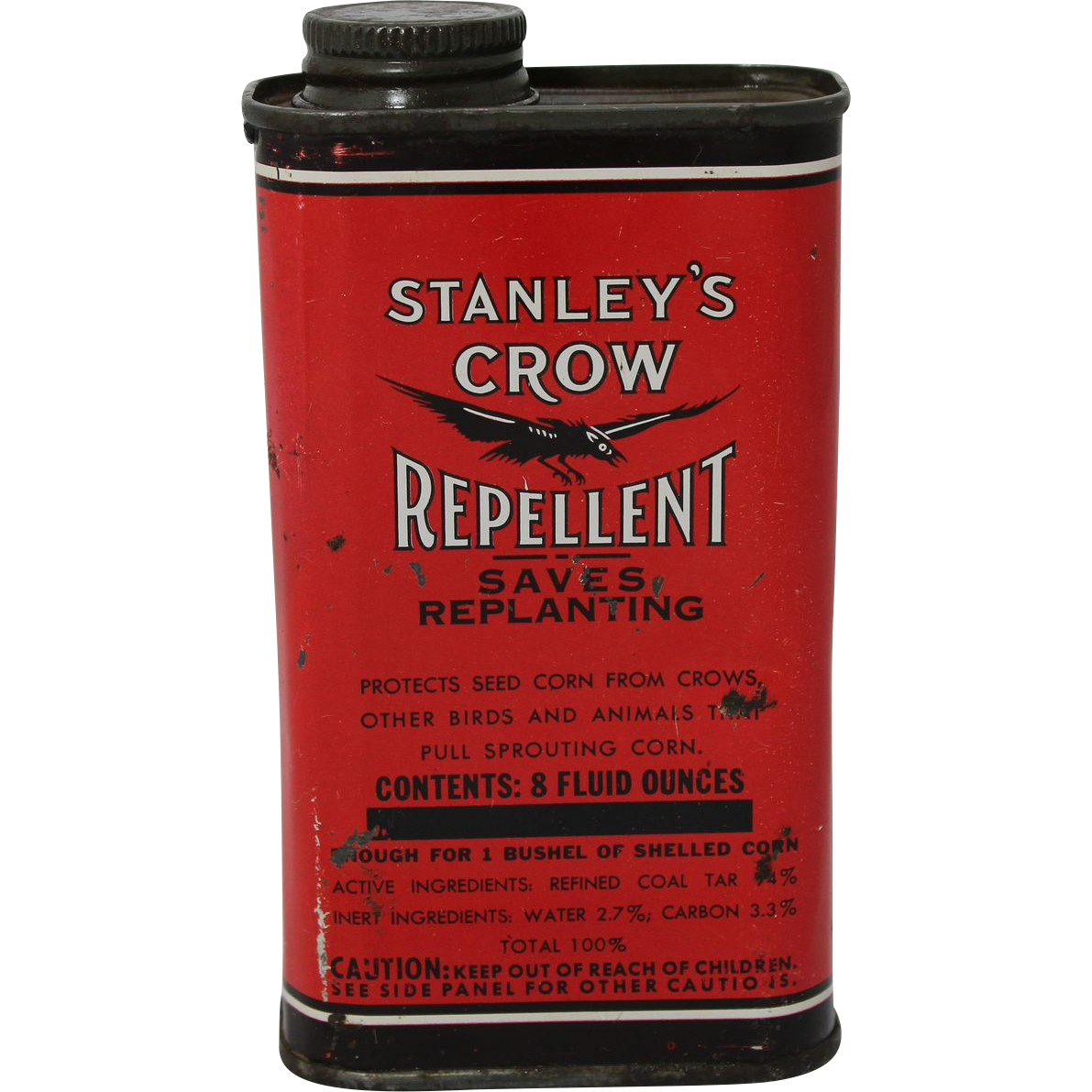 1940's Stanley's Crow Repellent Tin from ...