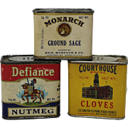 Three Assorted. Vintage Spice Containers