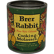 "1940's ""Brer Rabbit"" Cooking Molasses Tin"