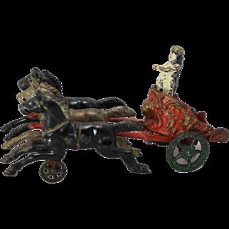 1910's Hubley Horse Drawn Royal Circus Chariot Wagon