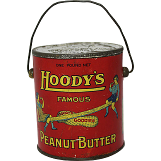 """Early """"Hoody's"""" Peanut Butter Tin Pail"""