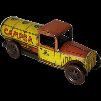 "1930's Tin Wind-up  Rico ""Campsa"" Oil Tanker"