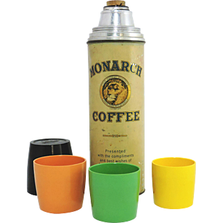 """Vintage Promotional """"Monarch"""" Coffee Thermos"""