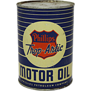 "Pre-1927 Phillips ""Trop-Artic"" Motor Oil 1 Qt. Can"