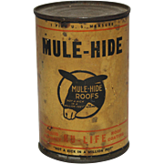 Rare Unopened Can of Mule-Hide Liquid Asphalt Roof Coating