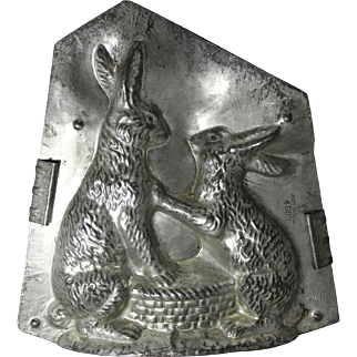 "Eppelsheimer ""Two Bunnies With Basket"" Chocolate Mold"