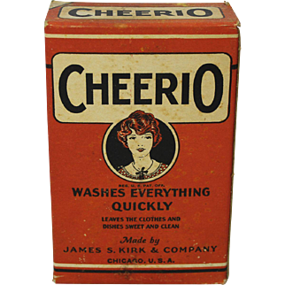 "Early 1900's Unopened ""Cheerio"" Detergent Box"