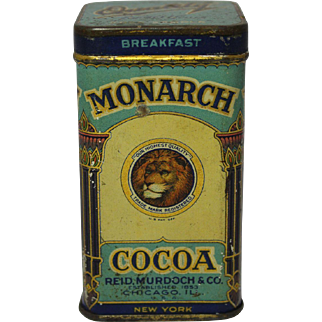 "Vintage Monarch ""Sample"" Cocoa Tin"
