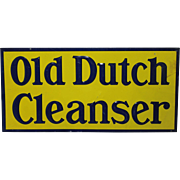 "Authentic ""Old Dutch Cleanser"" Embossed Tin Sign"