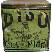 "Rare Late 1800's ""DIDO"" Cut Plug Tobacco Tin"