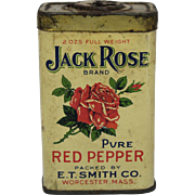 "Vintage ""Jack Rose"" Red Pepper Spice Tin"