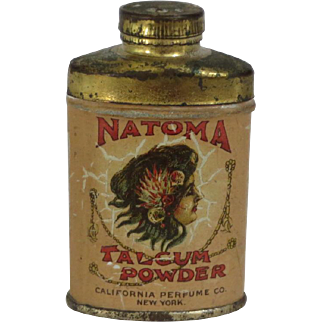 Early 1900's Natoma Talcum Powder Sample Tin